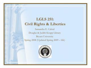 LGLS 251: