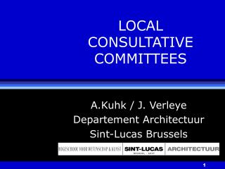LOCAL CONSULTATIVE COMMITTEES