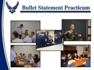 Bullet Statement Practicum