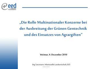 Weimar, 4. Dezember 2010