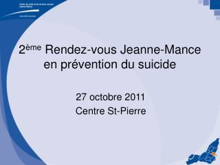 2 me Rendez-vous Jeanne-Mance en pr vention du suicide