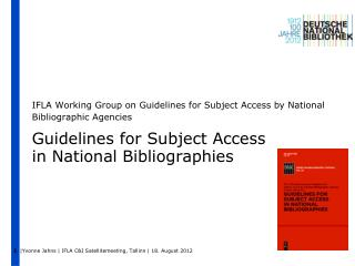 Guidelines for Subject Access  in National Bibliographies