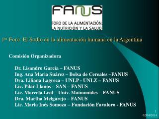 1er Foro: El Sodio en la alimentaci n humana en la Argentina