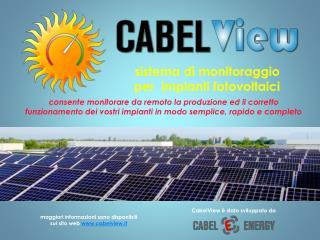 sistema  di monitoraggio  per   impianti  fotovoltaici