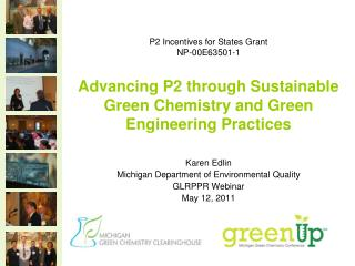Karen Edlin Michigan Department of Environmental Quality GLRPPR Webinar May 12, 2011