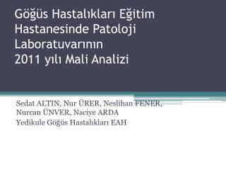 Göğüs Hastalıkları Eğitim Hastanesinde Patoloji  Laboratuvarının 2011  yılı Mali Analizi