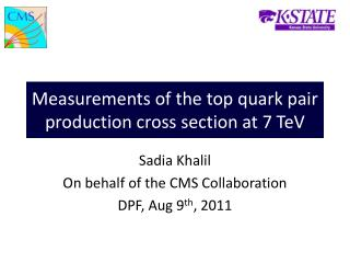 Measurements of the top quark pair production cross section at 7 TeV