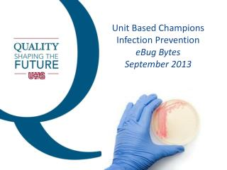 Unit Based Champions Infection Prevention eBug  Bytes September  2013