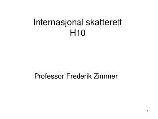 Internasjonal skatterett H10