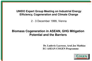 Biomass Cogeneration in ASEAN, GHG Mitigation Potential and the Barriers