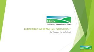 LISNAHARNEY WINDFARM Ref: K2013/0181/F