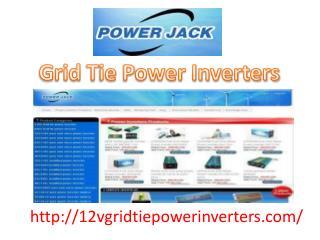 Grid Tie power Inverters