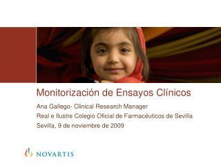 Monitorización de Ensayos Clínicos