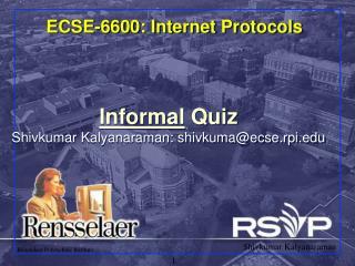 ECSE-6600: Internet Protocols