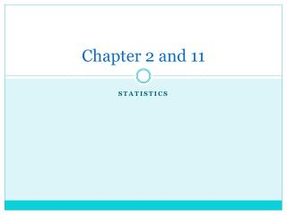 Chapter 2 and 11