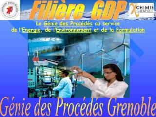 Le  G�nie des Proc�d�s  au service  de l� Energie , de l� Environnement  et de la  Formulation