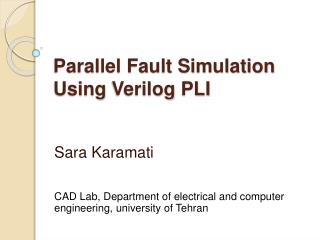 Parallel Fault Simulation Using Verilog PLI