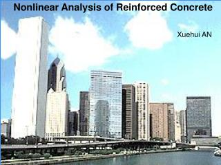 Nonlinear Analysis of Reinforced Concrete