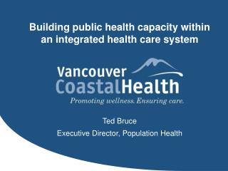 Building public health capacity within an integrated health care system