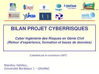 BILAN PROJET CYBERRISQUES Cyber Ingénierie des Risques en Génie Civil