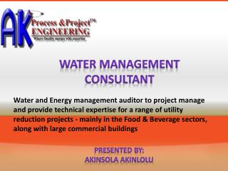 Requirement for Adequate Water Assessment