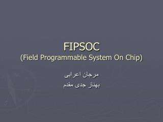 FIPSOC (Field Programmable System On Chip)