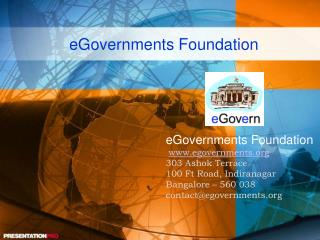 eGovernments Foundation