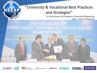 """""""University & Vocational Best Practices  and Strategies"""""""