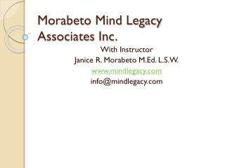 Morabeto Mind Legacy Associates Inc.