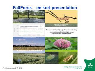FältForsk – en kort presentation