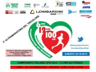 CAMPIONATO ITALIANO IUTA 2014 - 12 ORE SU STRADA