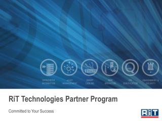 RiT Technologies Partner Program