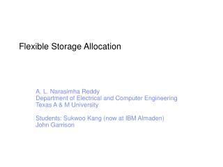 Flexible Storage Allocation