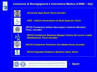 IRCCS Fondazione Salvatore Maugeri Clinica del Lavoro e della Riabilitazione, Pavia (founder)