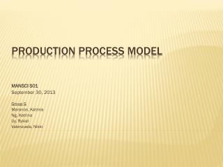 Production Process Model