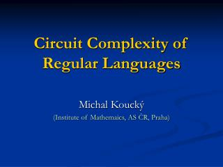 Circuit Complexity of Regular Languages