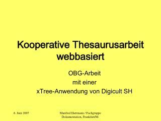 Kooperative Thesaurusarbeit webbasiert