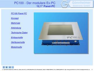 PC100 - Der modulare Ex-PC