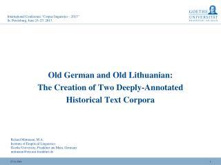 "International Conference ""Corpus linguistics  – 2013 "" St. Petersburg, June 25 –27 , 2013"