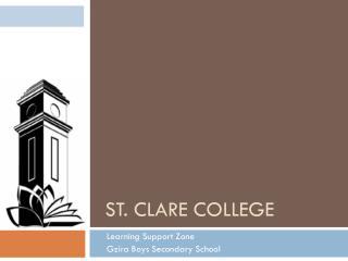 St . Clare College