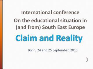 Claim and Reality