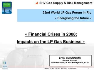22nd World LP Gas Forum in Rio « Energising the future »