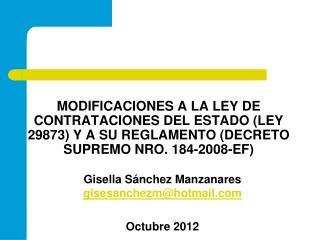 Gisella S�nchez Manzanares  gisesanchezm@hotmail Octubre 2012