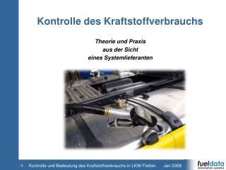 Kontrolle des Kraftstoffverbrauchs