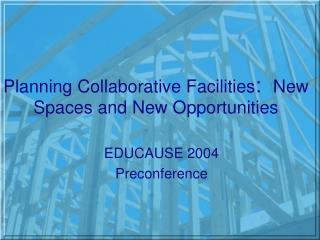 Planning Collaborative Facilities :   New Spaces and New Opportunities