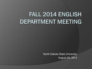Fall 2014 English department meeting
