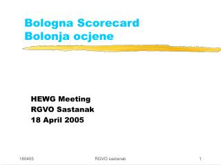 Bologna Scorecard Bolonja ocjene