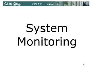 CIS 191 - Lesson 12