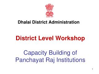 District Level Workshop Capacity Building of Panchayat Raj Institutions