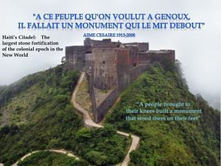 """""""A ce peuple qu'on voulut a genoux,  il fallait un monumentqui le mit debout"""""""